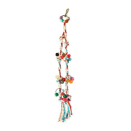 Brinquedo Happy Bird Corda Dupla para Pássaros Cores Sortidas