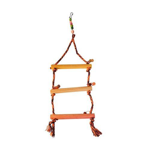 Brinquedo Happy Bird Balanço Escada para Pássaros Cores Sortidas