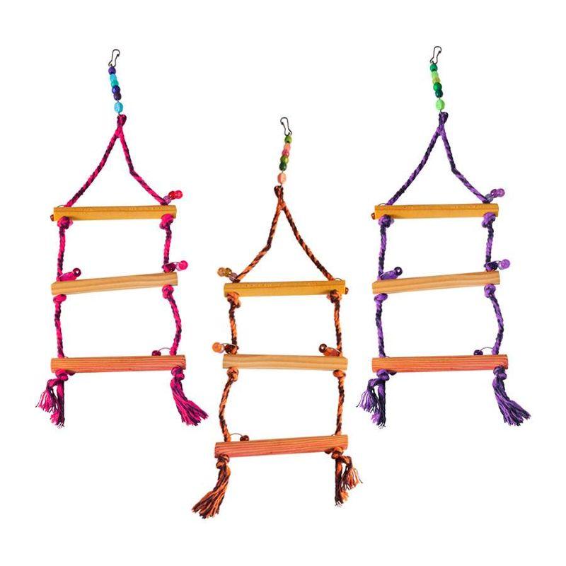Brinquedo-Happy-Bird-Balanco-Escada-Para-Passaros-Cores-Sortidas