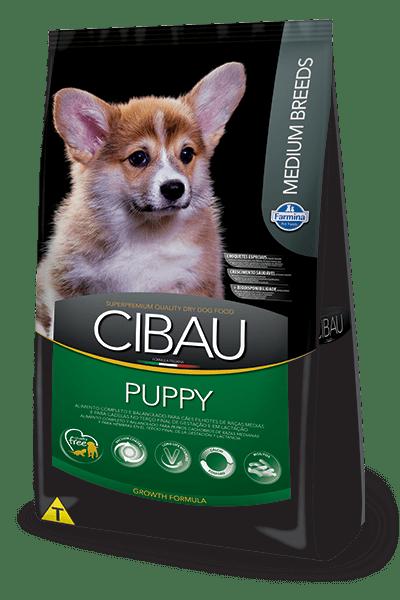 Ração Cibau Puppy Para Cães Filhotes Raças Médias