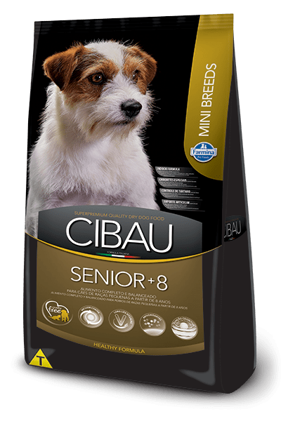 Ração Cibau Mini Breeds 8+ Senior para Cães Adultos de Raças Pequenas