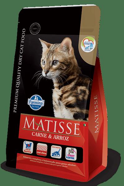 Ração Farmina Matisse para Gatos Adultos Sabor Carne e Arroz