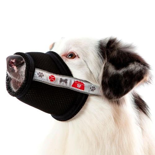 Focinheira Conforto Nylon Cães Pet Med