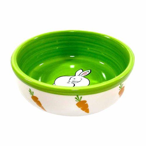 Comedouro de Porcelana para Coelhos The Pets Brasil Verde