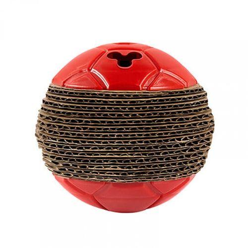 Brinquedo Para Gato Bolinha Arranhador Vermelho Trusqys Pets