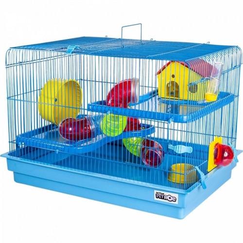 Gaiola Big Space para Hamster e Pequenos Roedores Extra Grande Completa Azul