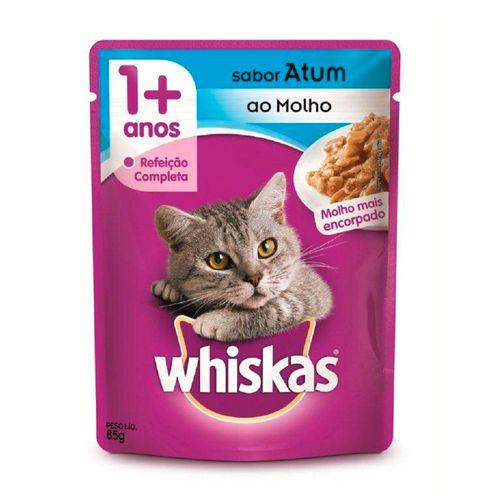 Ração Úmida Whiskas Sachê para Gatos Adultos Sabor Atum