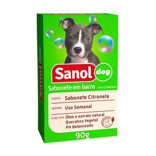 Sabonete Sanol Dog Citronela para Cães e Gatos